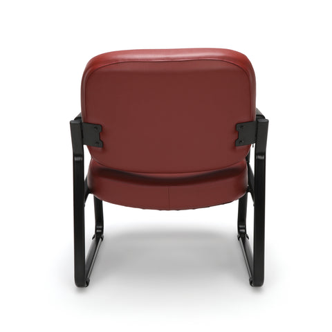 OFM Core Collection Big and Tall Guest and Reception Chair with Arms, Anti-Microbial/Anti-Bacterial Vinyl, in Wine (407-VAM-603) ; UPC: 845123028599 ; Image 3