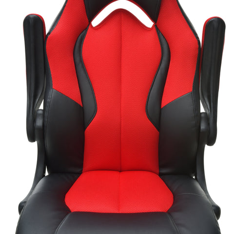 OFM Essentials Collection High-Back Racing Style Bonded Leather Gaming Chair, in Red (ESS-3086-RED) ; UPC: 845123090640 ; Image 8
