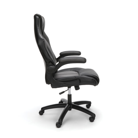 Essentials by OFM ESS-3086 High-Back Racing Style Bonded Leather Gaming Chair, Gray ; UPC: 192767001182 ; Image 4