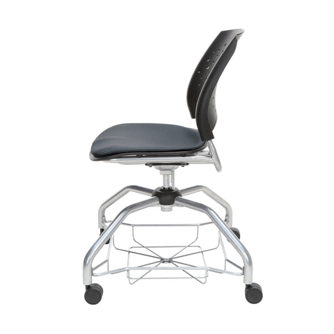 OFM Stars Foresee Series Chair with Removable Fabric Seat Cushion - Student Chair, Slate Gray (329) ; UPC: 845123094020 ; Image 5
