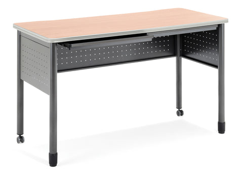 "OFM Mesa Series Model 66151 Standing Height Training Table and Desk with Drawers, 27.75"" X 59"", Maple ; UPC: 845123052884 ; Image 1"