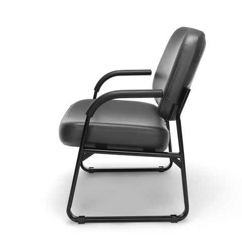 OFM Model 407-VAM Big and Tall Guest and Reception Chair with Arms, Anti-Microbial/Anti-Bacterial Vinyl, Charcoal ; UPC: 845123028605 ; Image 5