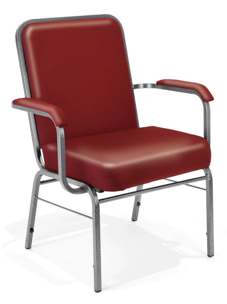 OFM Comfort Class Series Model 300-XL-VAM Big & Tall Anti-Microbial/Anti-Bacterial Vinyl Stacking Arm Chair, Wine ; UPC: 845123004067 ; Image 1