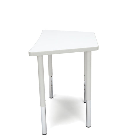 OFM Adapt Series Trapezoid Standard Table - 23-31? Height Adjustable Desk, White (TRAP-LL) ; UPC: 845123096697 ; Image 5