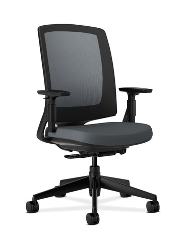 HON Lota Office Chair - Mid Back Mesh Desk Chair or Conference Room Chair, Charcoal (H2281) ; UPC: 881728407841 ; Image 1