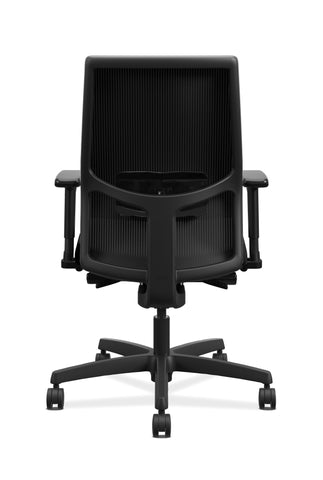 HON Ignition 2.0 Mid-Back Adjustable Lumbar Work Chair - Black Mesh Computer Chair for Office Desk, Black Fabric (HONI2M2AMLC10TK) ; UPC: 888206730743 ; Image 3