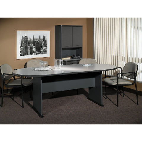 Bush A & C Conference Tables 82W x 35D Racetrack Conference Table, Pewter TR14584A ; UPC: 042976145842 ; Image 2