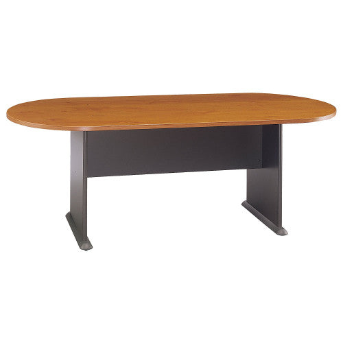 Bush A & C Conference Tables 82W x 35D Racetrack Conference Table, Natural Cherry TR57484A ; UPC: 042976574840 ; Image 1
