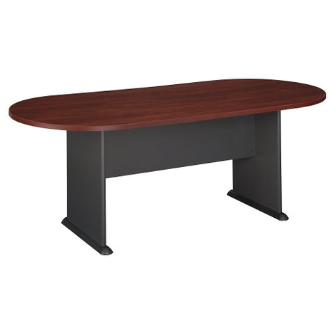 Bush A & C Conference Tables 82W x 35D Racetrack Conference Table, Hansen Cherry TR90484A ; UPC: 042976904845 ; Image 1