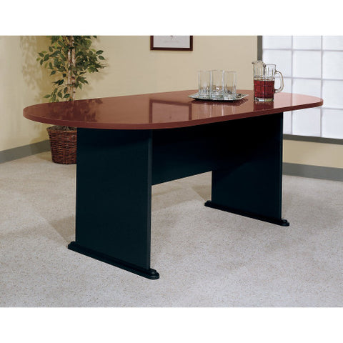 Bush A & C Conference Tables 82W x 35D Racetrack Conference Table, Hansen Cherry TR90484A ; UPC: 042976904845 ; Image 2