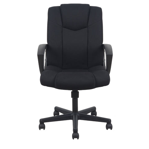 Essentials by OFM ESS-3080 Mid-Back Swivel Upholstered Task Chair, Black ; UPC: 089191013228 ; Image 2