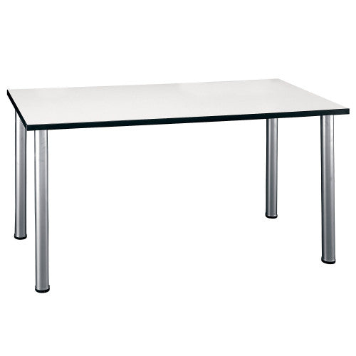 Bush Aspen Tables 57W x 28-1/2D Large Rectangle Table, White Spectrum TS85202 ; UPC: 042976852023 ; Image 1