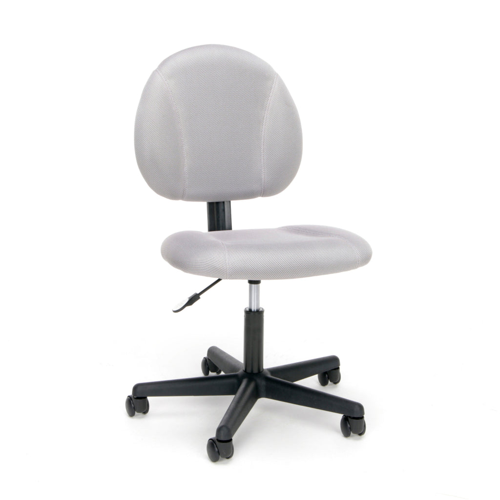 Essentials by OFM ESS-3060 Upholstered Armless Swivel Task Chair, Gray ; UPC: 845123089194 ; Image 1