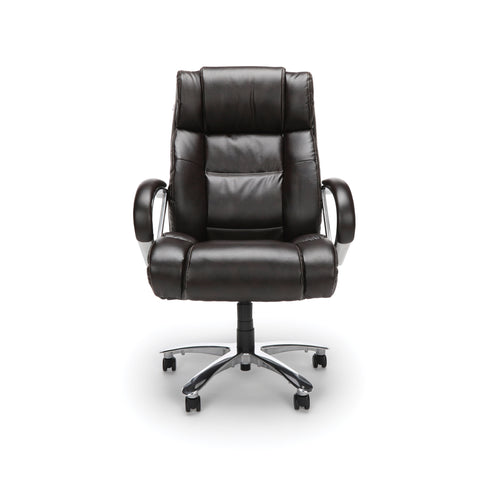 OFM  810-LX Big and Tall Executive High Back Chair, Leather, Brown ; UPC: 845123051849 ; Image 2