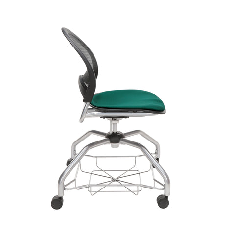OFM Moon Foresee Series Chair with Removable Fabric Seat Cushion - Student Chair, Forest Green (339) ; UPC: 845123094495 ; Image 4