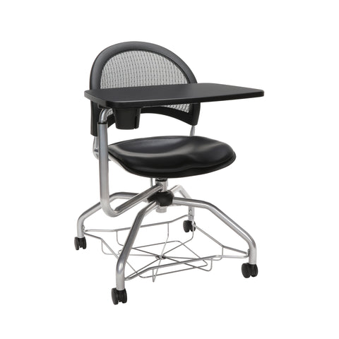 OFM Moon Foresee Series Tablet Chair with Removable Vinyl Seat Cushion - Student Desk Chair, Black (339T-VAM) ; UPC: 845123094785 ; Image 1