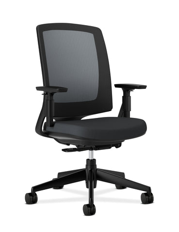 HON Lota Office Chair - Mid Back Mesh Desk Chair or Conference Room Chair, Black ; UPC: 881728405151 ; Image 1