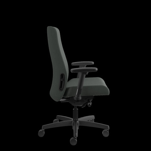 HON Endorse Mid-Back Task Chair with Lumbar Support, in Iron Ore (HLWU) ; UPC: 889218155166 ; Image 4