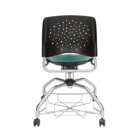 OFM Stars Foresee Series Chair with Removable Vinyl Seat Cushion - Student Chair, Teal (329-VAM) ; UPC: 845123094082 ; Image 3