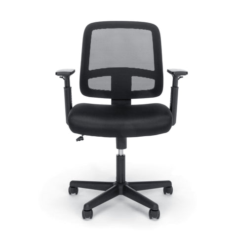 OFM Essentials Collection Mesh Back Chair with Adjustable Arms, Black (E3035) ; UPC: 845123089248 ; Image 2