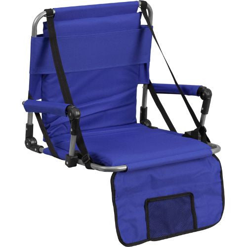 Folding Stadium Chair in Blue; (UPC: 889142004790); Blue