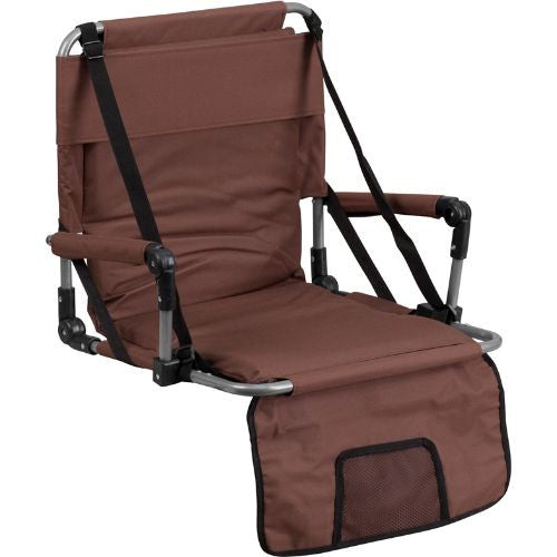 Folding Stadium Chair in Brown; (UPC: 889142004745); Brown