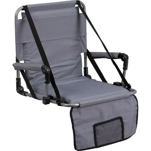Folding Stadium Chair in Gray; (UPC: 889142004769); Gray