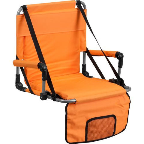 Folding Stadium Chair in Orange; (UPC: 889142004776); Orange