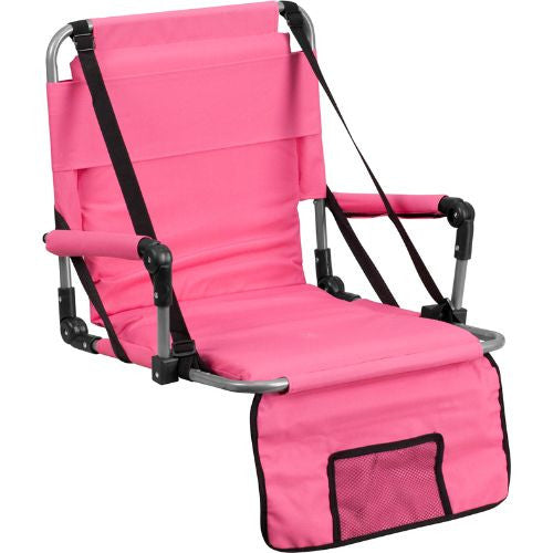 Folding Stadium Chair in Pink; (UPC: 889142004806); Pink