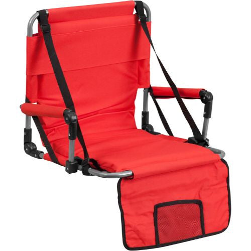 Folding Stadium Chair in Red; (UPC: 889142004752); Red