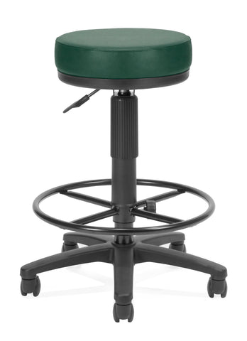 OFM Anti-Bacterial Utility Stool with Drafting Kit, Teal ; UPC: 811588015603 ; Image 1