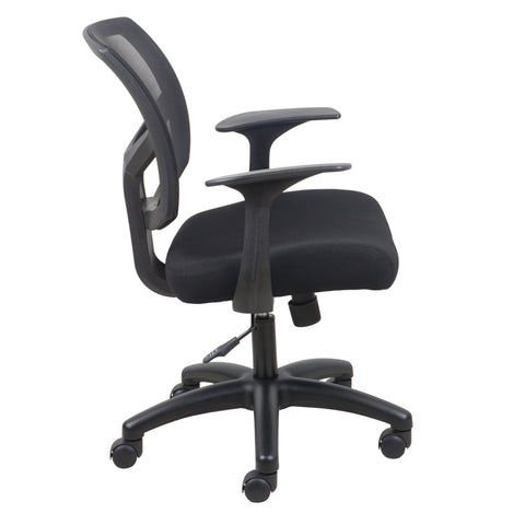 Essentials by OFM ESS-3030 Swivel Mesh Back Task Chair with Arms, Black ; UPC: 089191013549 ; Image 4