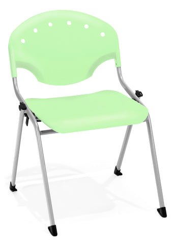 "OFM Rico Armless Stacking Chair -  Multipurpose 18"" Chair, Lime Green (305) Pack of 4 ; UPC: 811588013647 ; Image 1"
