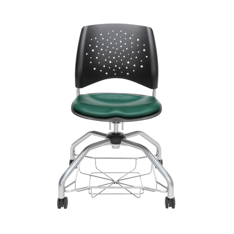 OFM Stars Foresee Series Chair with Removable Vinyl Seat Cushion - Student Chair, Teal (329-VAM) ; UPC: 845123094082 ; Image 2