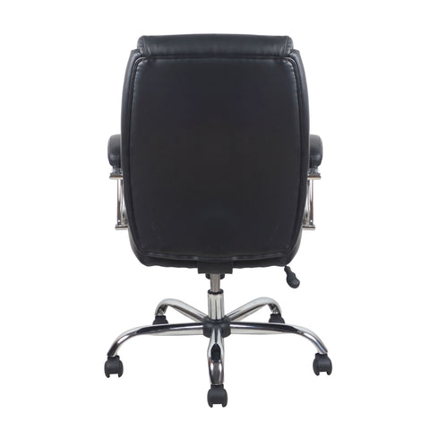 Essentials by OFM ESS-6070 Ergonomic High-Back Bonded Leather Executive Chair, Black with Chrome Finish ; UPC: 089191014010 ; Image 3
