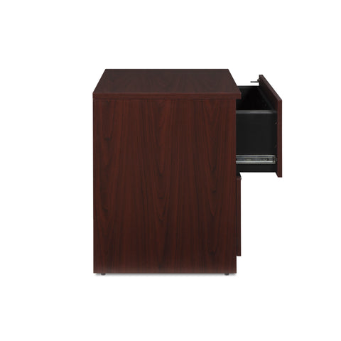 OFM Fulcrum Series Locking Lateral File Cabinet, 2-Drawer Filing Cabinet, Mahogany (CL-L36W-MHG) ; UPC: 845123097571 ; Image 7