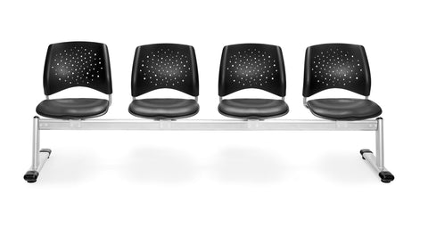 OFM 324-VAM-604 Stars 4-Unit Beam Seating with 4 Vinyl Seats ; UPC: 845123021439 ; Image 1
