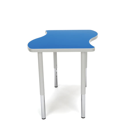"OFM Adapt Series Small Wave Standard Table - 23-31"" Height Adjustable Desk, Blue (WAVE-S-LL) ; UPC: 845123097038 ; Image 5"