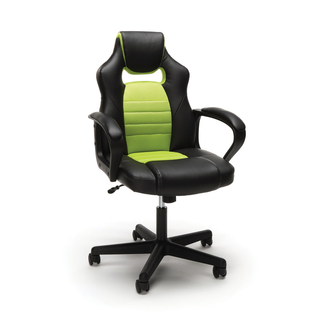 Essentials by OFM ESS-3083 Racing Style Gaming Chair, Green ; UPC: 845123092934 ; Image 1