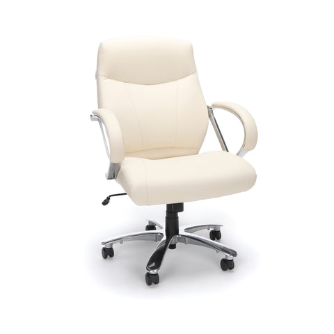 OFM  811-LX Leather Mid-Back Big and Tall Executive Chair, Cream ; UPC: 845123023365 ; Image 1