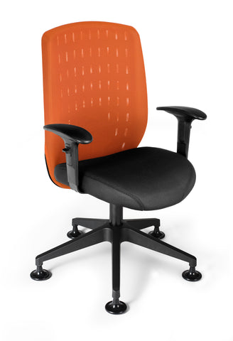OFM Vision Executive Guest Chair - Mesh Back Conference Chair, Tangerine (655-2708) ; UPC: 845123005903 ; Image 1