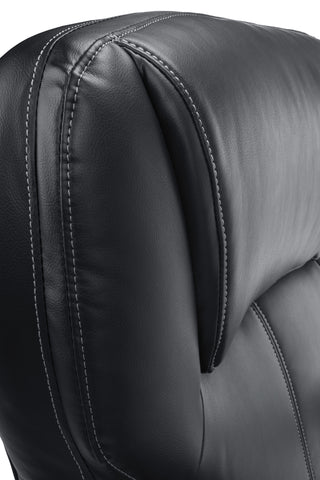 Essentials by OFM ESS-202 Big and Tall Leather Executive Office Chair with Arms, Black/Silver ; UPC: 845123080139 ; Image 7