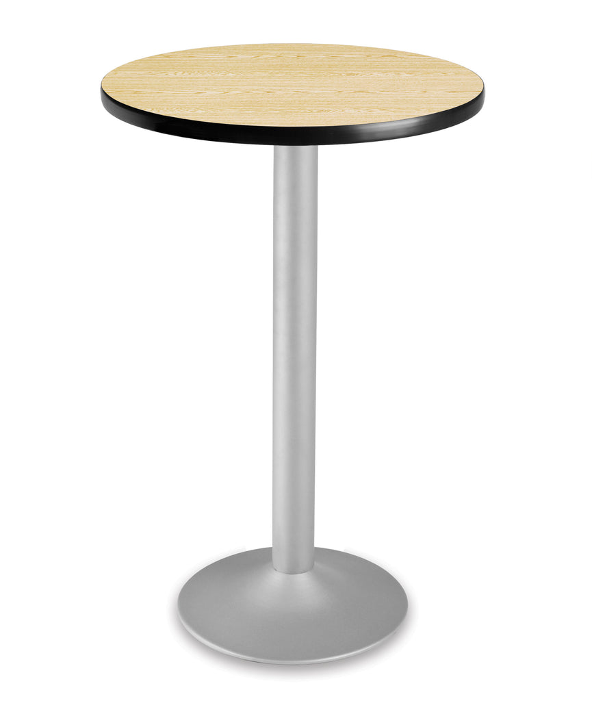 "OFM Model CFT24RD 24"" Round Folding Cafe Height Table with Pedestal Base, Oak ; UPC: 845123006115 ; Image 1"