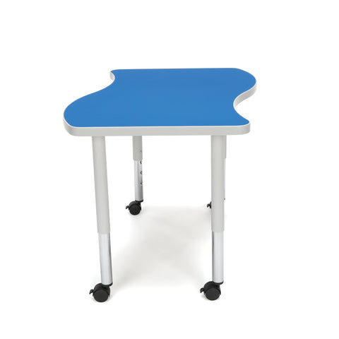 OFM Adapt Series Small Wave Student Table - 20-28? Height Adjustable Desk with Casters, Blue (WAVE-S-SLC) ; UPC: 845123096222 ; Image 5
