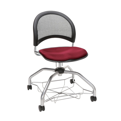 OFM Moon Foresee Series Chair with Removable Fabric Seat Cushion - Student Chair, Burgundy (339) ; UPC: 845123094457 ; Image 1