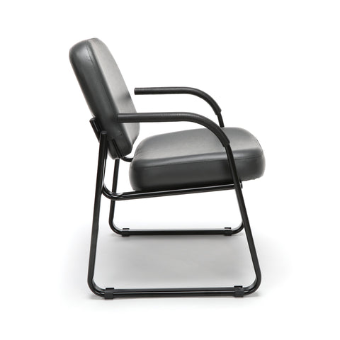 OFM Model 403-VAM Guest and Reception Chair with Arms, Anti-Microbial/Anti-Bacterial Vinyl, Charcoal ; UPC: 811588014200 ; Image 4