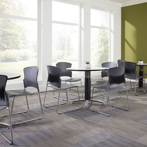OFM Core Collection Multi-Use Plastic Stack Chair, Pack of 4, in Gray (310-P-4PK-A01) ; UPC: 845123049143 ; Image 2