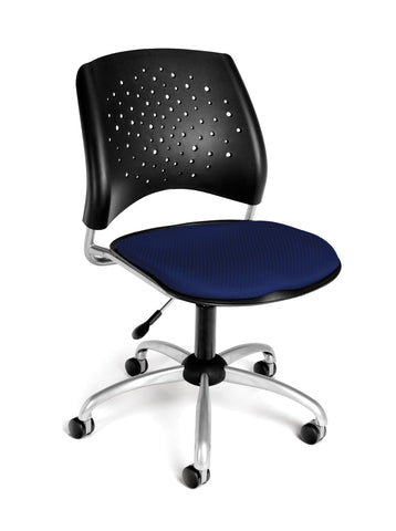 OFM Stars Series Armless Fabric Swivel Chair, Navy ; UPC: 845123004531 ; Image 1