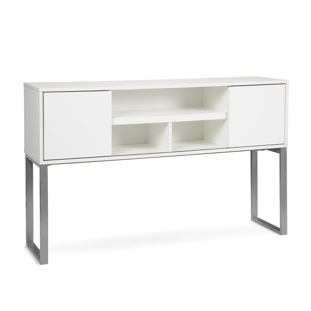 "OFM Fulcrum Series 60"" Hutch with Doors, Office Cabinet for Storage, White (CL-H6015-WHT) ; UPC: 845123097670 ; Image 1"