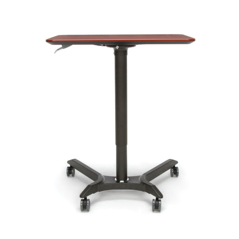 OFM Mesa Series Mobile Standing Desk - Height Adjustable Laptop Table, Workstation, Cherry/Gray (66100-CHY) ; UPC: 845123092835 ; Image 3